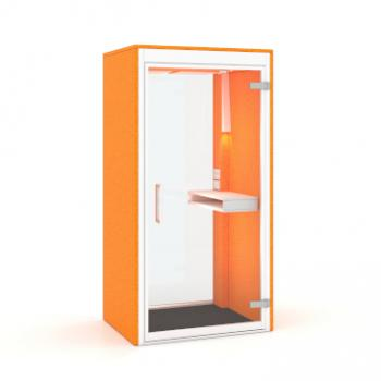 Phonespace individual pod in Orange