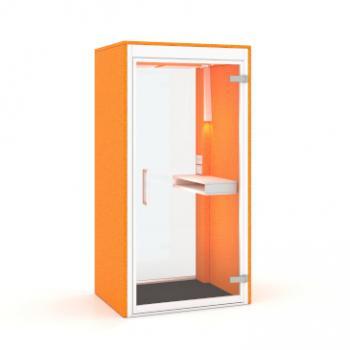 Phonespace individual pod in Orange