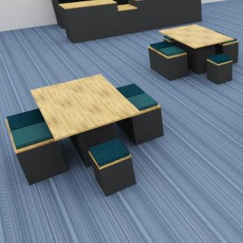 Morph Picnic tables and low stools
