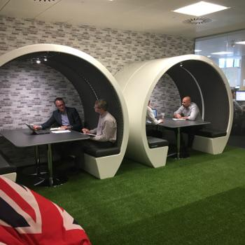 Meeting pods in open plan office