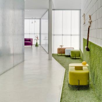 Sancal Elephant poufs green yellow