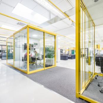 Groupspace M in yellow in situ