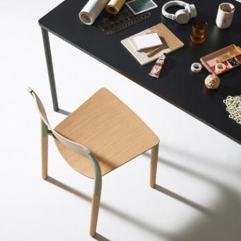 Folk chair as an office chair