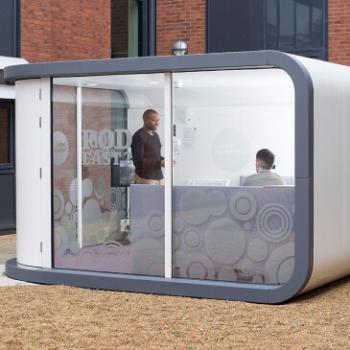 Office pod external meeting space