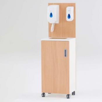 Mobile hand sanitiser unit