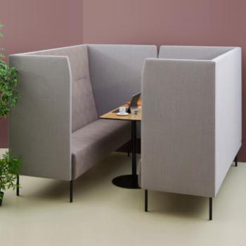 Hitch Mylius Reveal High back sofa to make meeting space