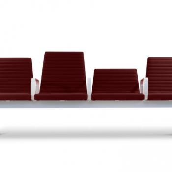 hm213 Horizon burgundy seating system