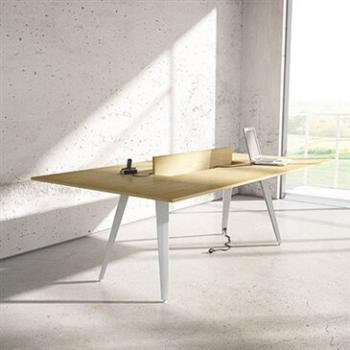 Wooden 4-leg executive desk
