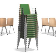Caliber stacking chair upholstered