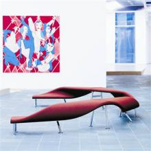Red Flip and Fold bench