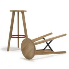 Oak Naughts and Crosses Barstools, designed by Michael Sodeau - for bar or dining use