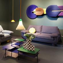 Sancal DB sofa in waiting room layout purple