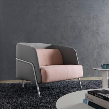Segis Noldor chair in pink and grey