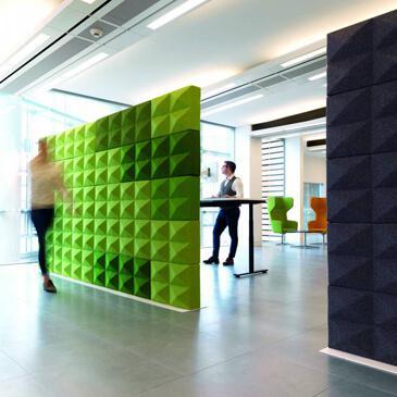 Fabricks wall in green