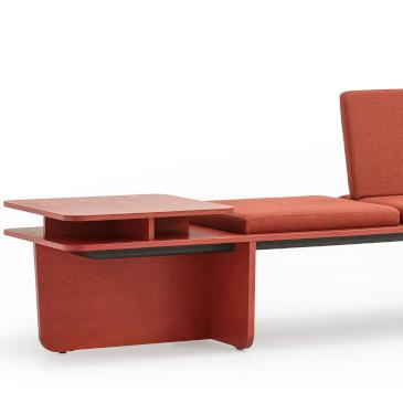Lande Flatlands end coral red modular sofa