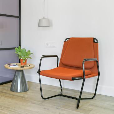 Sancal Casta Lounge chair in orange