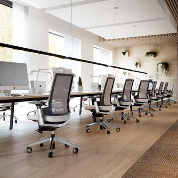 360 task chairs in an office with computers