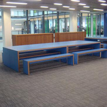 Waldo School bench tables