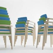 Session Wood Stacking Chair