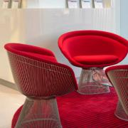 Platner side and lounge chairs
