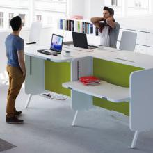 Stand up workstations and meeting points