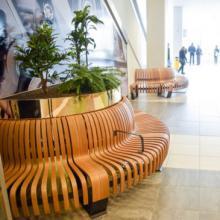 Nova C bench with planter