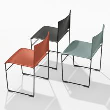 Arper Stacy chair red black green