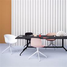 Collection of various coloured About a chair AAC2s around a table