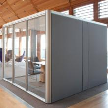 Cell pod meeting space with acoustic walls