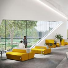 Boss Hemm lounge seating in yellow
