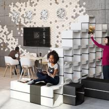 Movisi U-Cube modular office furniture dividers