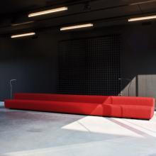LaCividina Osaka sofa straight line in red 2