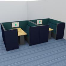 Double Morph Meets bays with acoustic panels inside and out