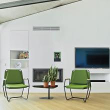Pair of Sandal Casta lounge chairs in green