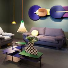 Sancal DB sofa in waiting room layout purple