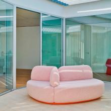 Sancal La Isla Sofa with three sections in pink