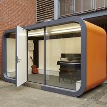 Orange external meeting pod