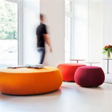 Orange Pix Ottomans