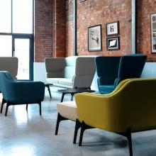 Harc seating, designed by Roger Webb Associates.