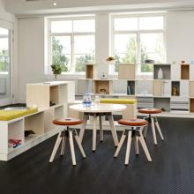 A-Series low stool with standard table height