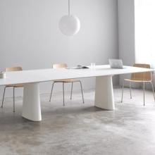 Inclass Essens Table long rectangle top white